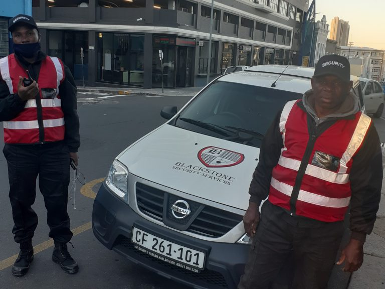 Blackstone Security vehicle & guards