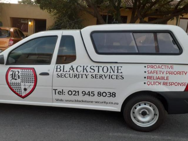 Blackstone Security official vehicle